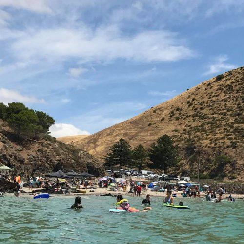 Safe swimming beach